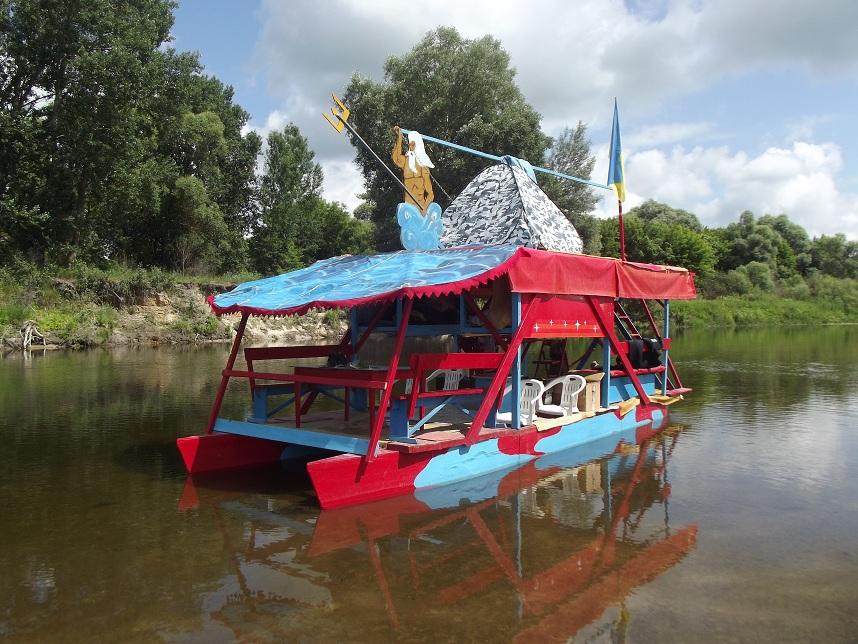 река Сейм плот Неон водный туризм сплав